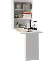 armário com mesa 5131 branco premium multimóveis