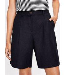 loft bermuda shorts in linen blend