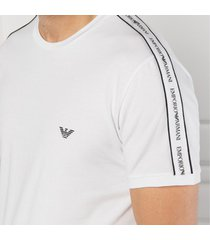 emporio armani t-shirt taped logo - wit