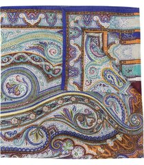 etro paisley print fine knit scarf - neutrals