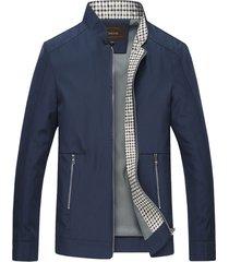 chaqueta casual hombre algodon cremallera 961 azul