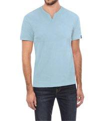 men's basic notch neck short sleeve t-shirt