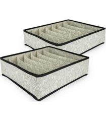 design imports storge drawer bra size set of 2 damask