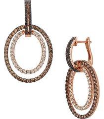 le vian women's 14k strawberry gold®, chocolate diamond®, nude diamond™ & blackberry diamond® drop earrings