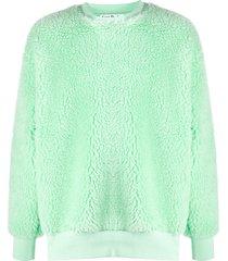 acne studios mandala-print oversized sweatshirt - green