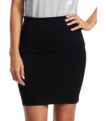 rib-knit mini skirt