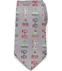 men's cufflinks, inc. winter gear silk tie, size one size - grey