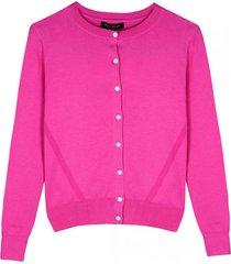 sweater stretch cotton cardigan rosa banana republic