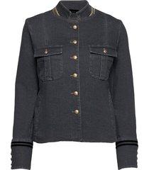 selby gallery jacket blazers casual blazers blå mos mosh