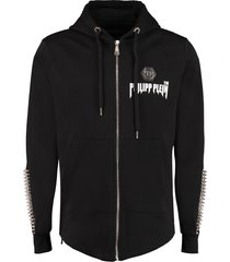 philipp plein cotton full zip hoodie