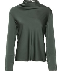 ayumi blouse blus långärmad grön ahlvar gallery