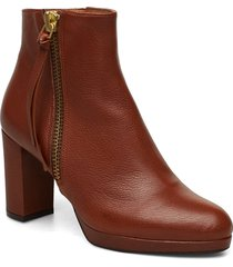 booties 3451 shoes boots ankle boots ankle boot - heel brun billi bi