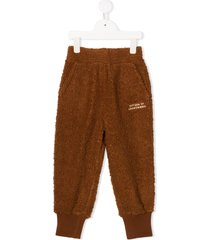 tiny cottons fleece trousers - brown