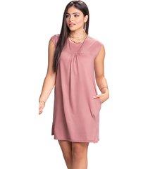 vestido corto para mujer palo de rosa oscuro mp