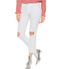 jeans leena stretch 32 blanco only - calce ajustado