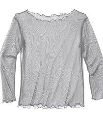 transparant zijden shirt, platina 40/42