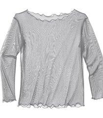 transparant zijden shirt, platinum 44
