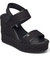wedge sandal sling co sandalette med klack espadrilles svart calvin klein