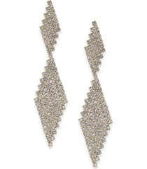 inc crystal mesh drop earrings, created for macy's
