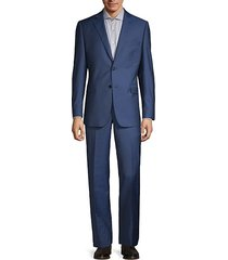 two-piece slim-fit classic wool & silk suit