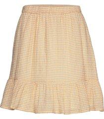 carolina skirt knälång kjol beige modström