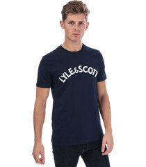 mens l & s logo t-shirt