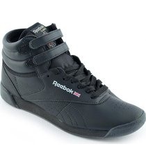 zapatilla negra reebok freestyle high