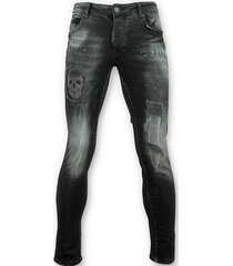 skinny jeans justing e skinny jeans met patches - 059