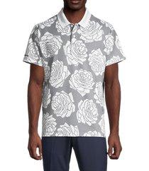 bonobos men's performance floral-print golf polo - rose - size l