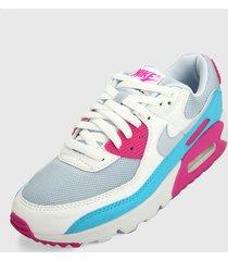 tenis lifestyle blanco-violeta-azul nike air max 90