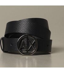 armani exchange belt armani exchange belt in grained synthetic leather