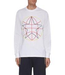 'hazlett' globe graphic print cotton sweatshirt