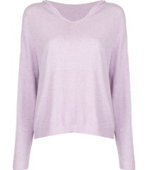 apparis aubrey fine knit hoodie - purple