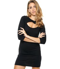 vestido negro destino collection recorte