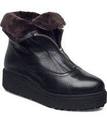 warm lamb fur lining a-9505-m shoes boots ankle boots ankle boot - flat svart wonders