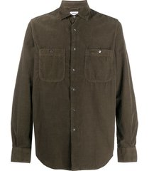 aspesi new c slim-fit corduroy shirt - green