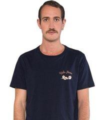 camiseta albedrío slim vale huevo azul