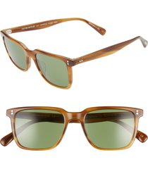 women's oliver peoples lachman 50mm rectangle sunglasses - raintree/ green