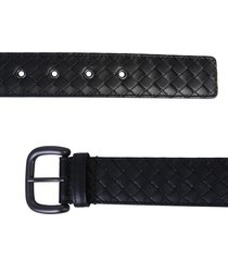 bottega veneta braided nappa belt with buckle