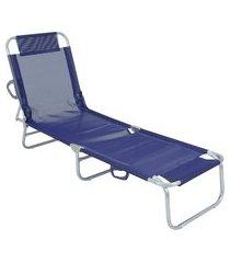cadeira espreguiçadeira alumínio bel c/ 4 ajustes de posições