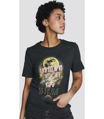 t-shirt med print - svart