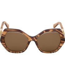 roberto cavalli women's 57mm geometric sunglasses - brown