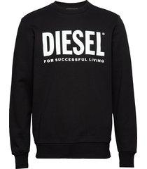 s-gir-division-logo sweat-shirt sweat-shirt tröja svart diesel men
