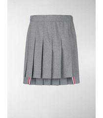 thom browne dropped back mini pleated skirt