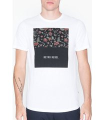 premium by jack & jones jprgray bla. tee ss crew neck t-shirts & linnen vit