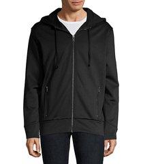 dantony zip-front hoodie