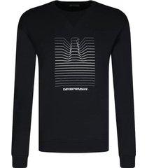 emporio armani sweatshirt navy blue