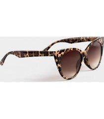 lea leopard cat-eye sunglasses - leopard