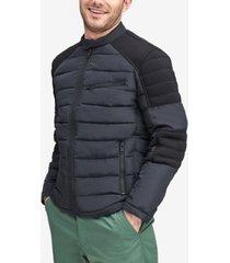 marc new york men's faux-down moto jacket