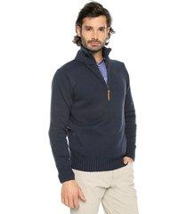sweater azul osc 7 preppy m/l c/alto 1/2 cremallera tejido medio